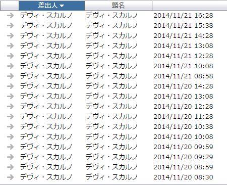 悪質な迷惑メール 2014.11